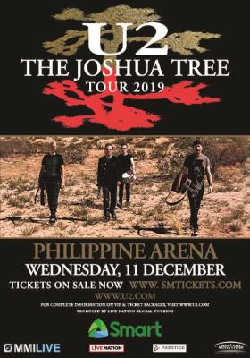 U2 2020 Tour.Sm Tickets